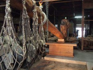 木製天秤搾り機